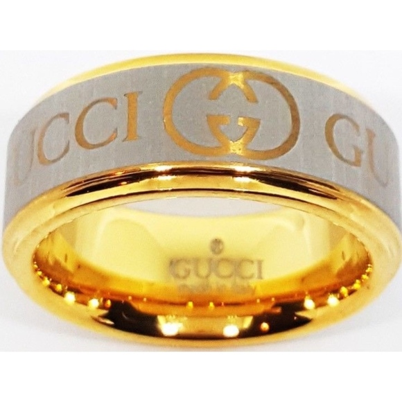 9db5efa9b Gucci Jewelry | Ring Gold And Silver Size 875 Tungsten Ring | Poshmark